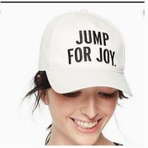 kate spade jump for joy baseball cap hat nwt